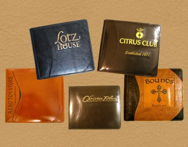 custom leather guest books