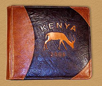 custom leather safari album