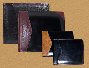 leather photo albums and guest books