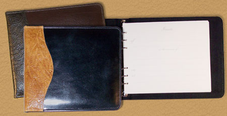 handmade leather photo guest books