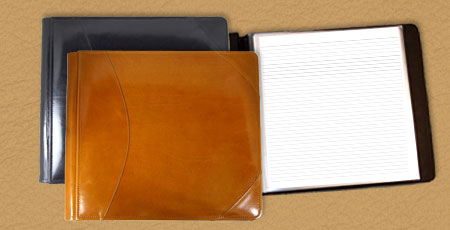 handmade leather guest books
