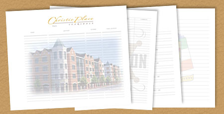 custom guest book pages