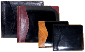 Personalized leather guest books