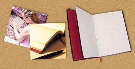 handmade leather photo journals