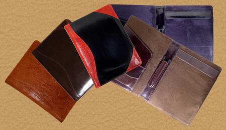 custom leather letter pad portfolio