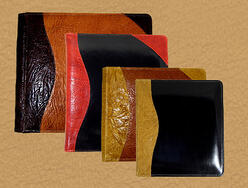 leather photo albums and portfolios