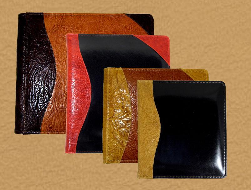 leather photo albums and portfolios