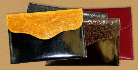 handmade leather photo envelope