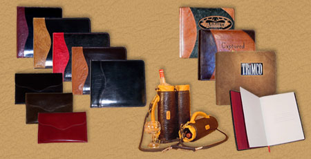 handmade leather albums portfolios journals envelopes