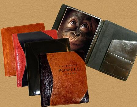 leather presentation portfolios