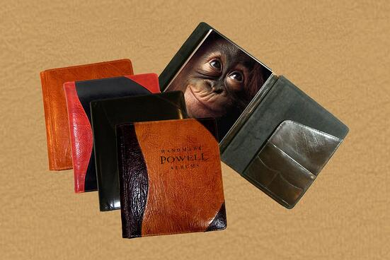 leather presentation portfolio