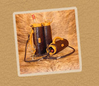 Powell Leather handmade wine totes