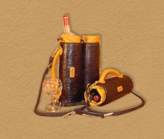 handmade leather wine totes