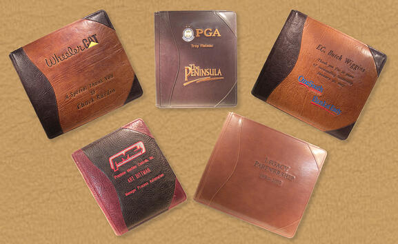 personalized leather portfolio album